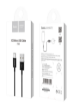 Кабель MicroUSB Hoco X23 Skilled micro charging data cable, black