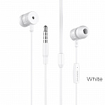 Наушники Borofone BM31 Mysterious universal earphones with mic white