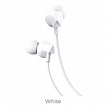 Наушники hoco M60 Perfect sound universal earphones with mic white