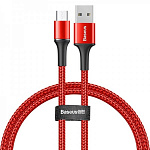 Кабель Baseus halo data cable USB For Micro 3A 0.5m Red CAMGH-A09