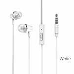 Наушники Borofone BM21 Graceful universal earphones with mic white