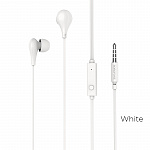 Наушники Borofone  BM24 Milo universal earphones with mic white
