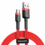 Кабель Baseus cafule Cable USB For Micro 2.4A 0.5M Red+Red CAMKLF-A09