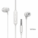 Наушники Borofone BM28 Tender sound universal earphones with mic white