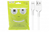 Кабель hoco X13 Easy charged type-c charging cable(L=1M) white
