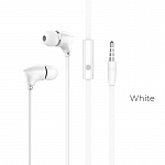 Наушники Borofone BM26 Rhythm universal earphones with mic white